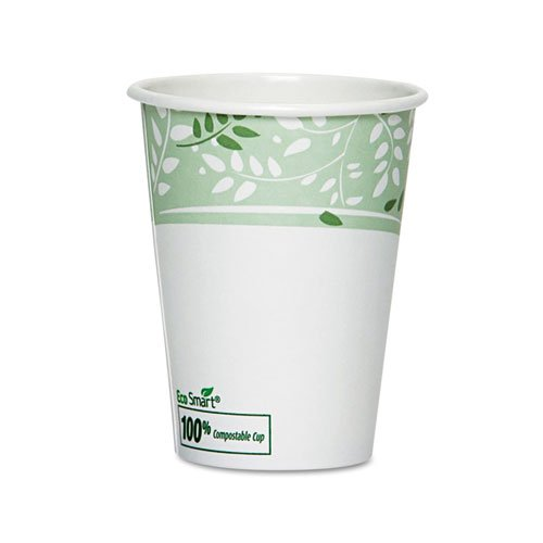 Dixie® EcoSmart Hot Cups, Paper w/PLA Lining, Viridian, 12oz, 50/Pack