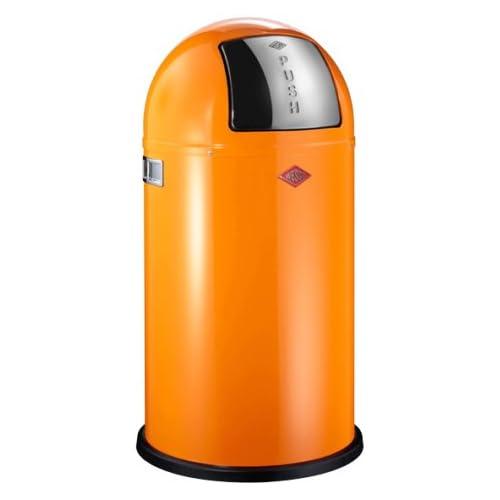 Wesco Pushboy 50 Litre Bin - Orange