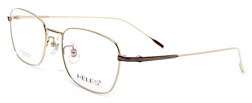 Heles Unisex Fashionable 100% Pure Tianium Full Rim Optical Frame Eyeglasses, - C3 Rims