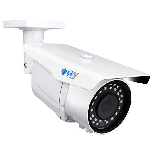 GW Security 8 Megapixel 4K (3840x2160p) 2.8-12mm Varifocal Zoom Outdoor Weatherproof Onvif H.265 8MP Bullet PoE IP Camera, 196FT IR Night Vision