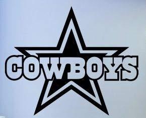 Dallas Cowboys Football Team Logo Wall Decal 040 ()
