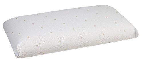Pikolin Home - Almohada de latex natural, soporte ergonomico, 35x90cm, altura 13cm, color blanco (Todas las medidas)