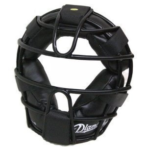 Diamond DFM-12 Baseball Catcher's Face Mask Protector Black w/Straps by Diamond