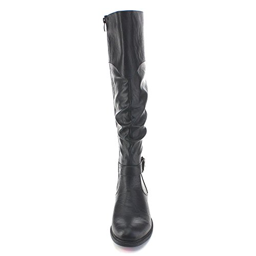 Collection Blossom Knee Elastic Boots 32 High Slouchy Black Riding Womens De Pita 6q0UnqxZ