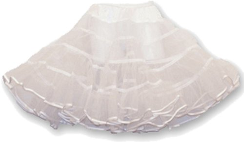 (Hip Hop 50s Shop Girls Crinoline Petticoat Slip - Large Child White)