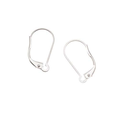 Silver Plated Earring Findings, Lever Backs, Interchangeable Loop, Pair of 5