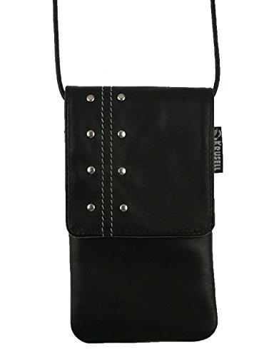 Original Krusell Kalix Studded Schwarz Soft Leder Case Cover Tasche Hülle Mit Klappe Geeignet Für Apple Iphone 4G 4S 4