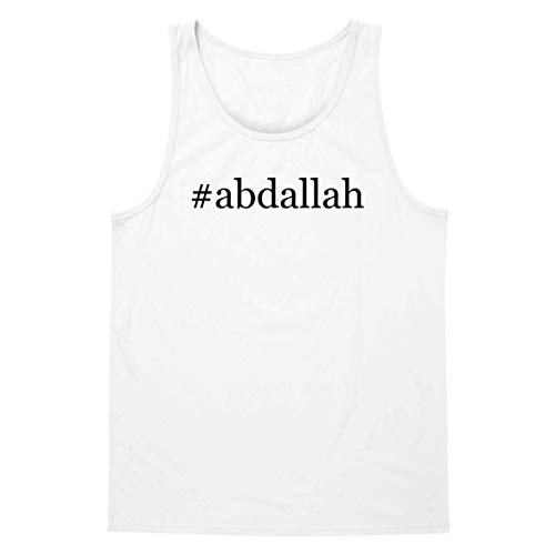 The Town Butler #Abdallah - A Soft & Comfortable Hashtag Men's Tank Top, White, X-Large