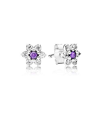 23972de37 PANDORA - Earring Forget Me Not Silver 925/1000 PANDORA 290690ACZ:  Amazon.co.uk: Jewellery