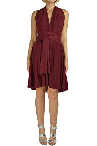 d37e031f87 Ivon L.A Short Infinity Convertible Dress (Burgundy)