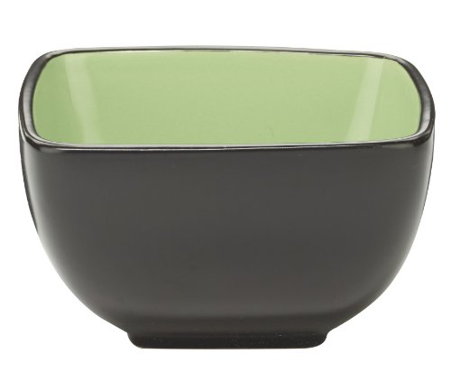 Cuisinart CDST1-BWG Melle Collection Stoneware Open Stock Square Bowl, 5.5-Inch, Green