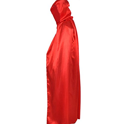 ESHOO Costume Pour Party Rouge Cape Adulte Unisexe Manteau capuche Fancy Halloween IxrIw