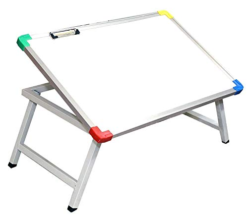LIZARD® Multi Purpose Foldable Laptop Study Writing Bed Breakfast Tray Table for Children with Whiteboard Paper Holding Clip