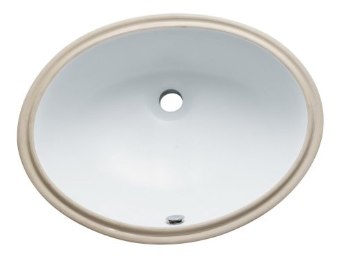 Kingston Brass LBO22178 Fauceture Oval Undermount 21-7/10-Inch-by-16-1/2-Inch-by-7-9/10-Inch Bathroom Sink with Overflow, White