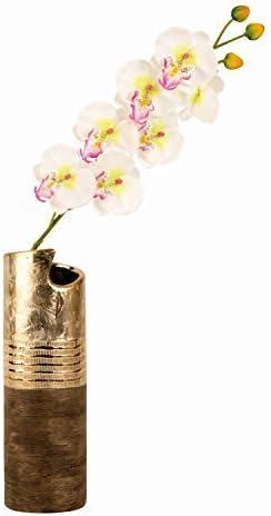 Moderne Vase d/écoratif Vase en c/éramique dor/é//marron Hauteur 30cm