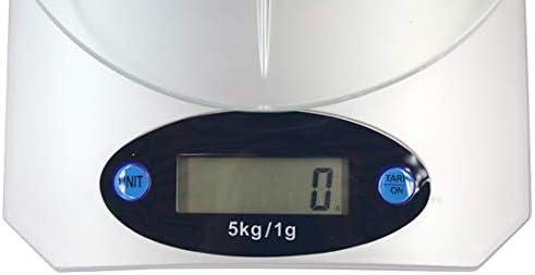 DINGXUEMEI Bilancia Elettronica di precisione Cucina Forniture QE-5 5000g x 1g Digital Kitchen Elettronica Cucina Gram Bilancia, Misurare Frutta/Cibo Peso