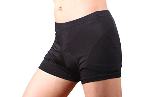 4ucycling-Unisex-Men-s-Women-s-3D-padded-Bicycle-Cycling-Underwear-Shorts-L-haimian-Black-Updated-Sponge-Padded