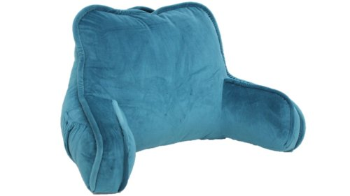 Brentwood Originals 2136 Plush Bed Rest, Teal (Back Rest Pillow)