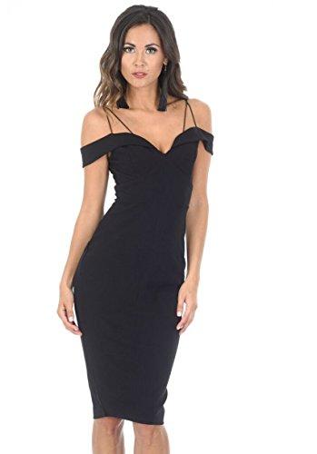glam black midi dress - 2
