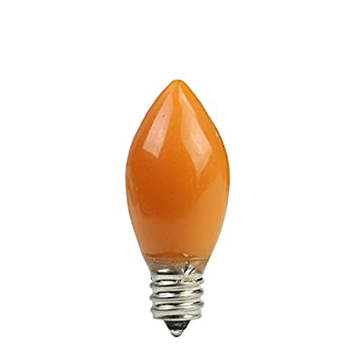Sienna Pack of 4 Opaque Orange LED C7 Christmas Replacement Bulbs