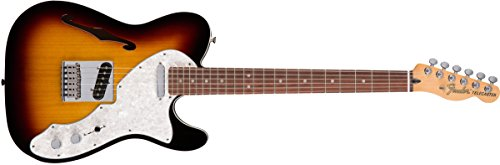 Fender Deluxe Telecaster Thinline Electric Guitar - Rosewood Fingerboard - 3-Color Sunburst