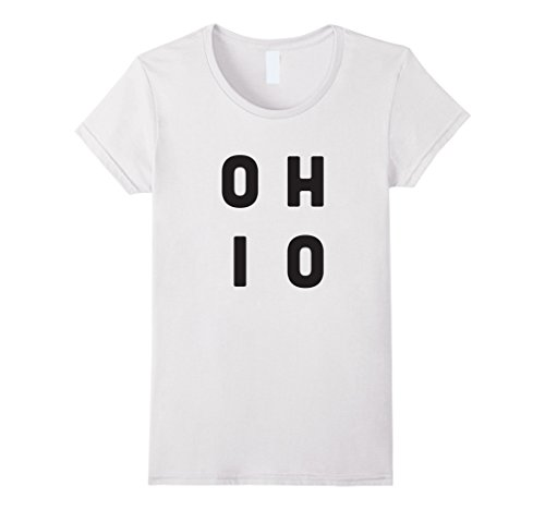 Womens OHIO Stacked Letters T-Shirt Medium (Ohio State Letters Tee)