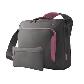 Belkin F8N077-SGF-DL 17-Inch Energy Collection Messenger Bag (Gray/Flamingo Pink)