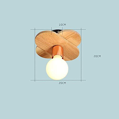 PLLP Living Room Bedroom Corridor Lighting, Household Ceiling Light European Style Modern Led Ceiling Lights Iron Art Solid Wood 1 Holder  5 Holder  7 Holder Lamps Living Room Lights Bedroom Light by PLLP (Image #1)