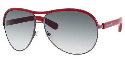 Marc Jacobs MJ400/S Sunglasses-09D1 Ruthenium/ Red (YR Green Grad Lens)-64mm