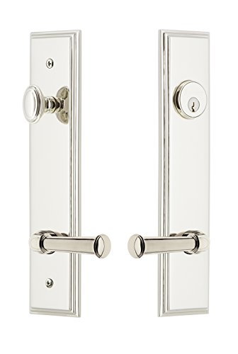 (Grandeur Hardware 841359 Carre' Tall Plate Complete Entry Set with Georgetown Lever, Backset Size - 2.75