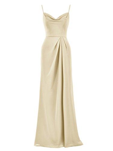Alicepub Long Chiffon Bridesmaid Dress Spaghetti Party Evening Dresses Prom Gown