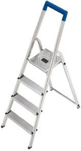 Hailo L20 - Escalera de aluminio plegable (150 kg, 4 peldaños): Amazon.es: Bricolaje y herramientas