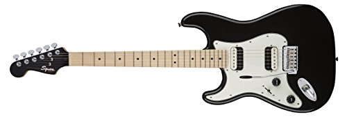 Black Maple Fingerboard (Squier by Fender Contemporary Stratocaster Electric Guitar - HH - Maple Fingerboard - Black Metallic - Left-Hand)