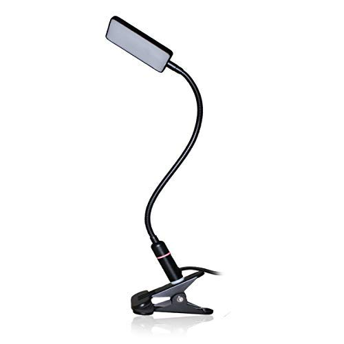LED Clip Lamp – 3 Brightness Mode – Sensor Touch – USB Plug & Adapter – Black