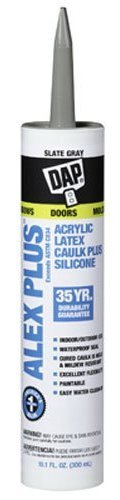 (Dap 18118 10.1 oz. Alex Plus All Purpose Acrylic Latex Adhesive Caulk, Slate Gray (12, Slate Gray))