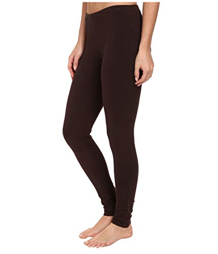HUE Women's Fashion Cotton Skimmer Leggings (Brown Solid Espresso, Small ()
