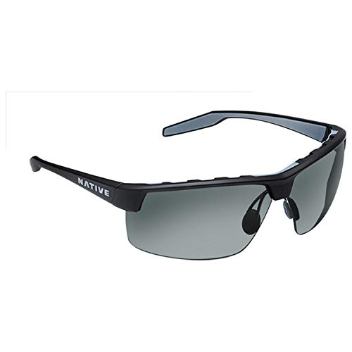 Native Eyewear Unisex Hardtop Ultra XP Matte Black/Gray Sunglasses