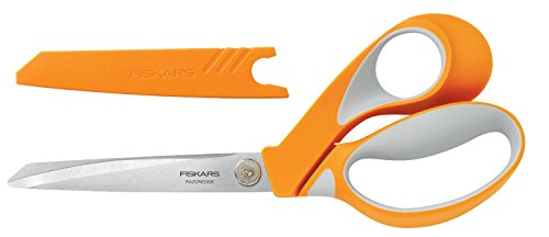 Fiskars Crafts 8195 RazorEdge Softgrip Fabric Shears, 9-Inch (Scissors Touch Soft)