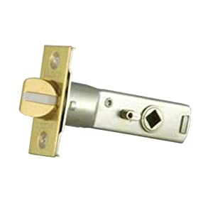 Baldwin 5513.030 Interior Passage Latch with 2-3/8-Inch Backset, Polished Brass - Lacquered