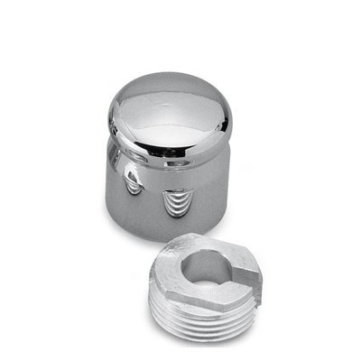 Pro-One Smooth Chrome Billet Choke Knob Cover for Harley