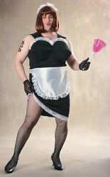 Sexy Deluxe French Maid Costumes (Rubie's Costume Co Nlp French Maid Costume)