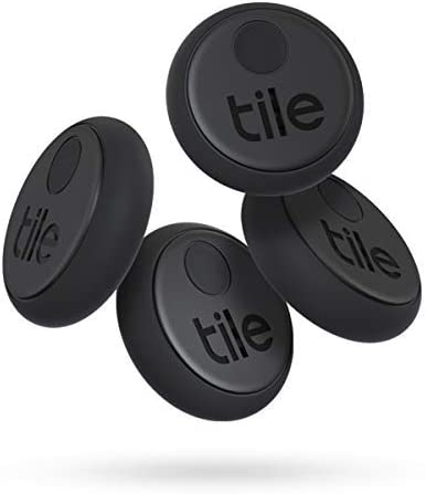 Tile Sticker (2020) Lot de 4 localisateurs d'article Bluetooth, Noir, Portée de...
