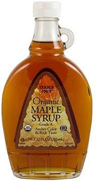 Trader Joe's Organic Grade A Maple Syrup Amber Color & Rich Taste NET 12 FL OZ (355 ml)