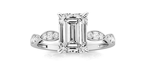 0.89 Ct Emerald Cut Diamond - 1