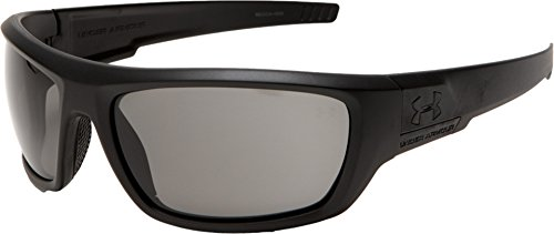(Under Armour Prevail Sunglasses, Satin Black Frame/Gray Lens, One Size)