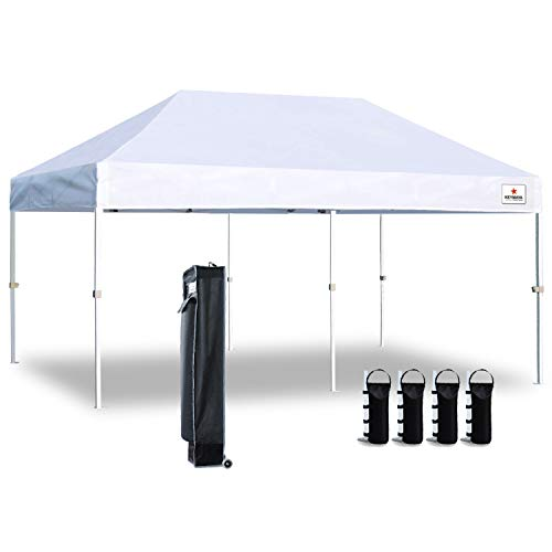 Keymaya 10'x20′ Ez Commercial Instant Tent Heavy Duty Pop-up Canopy Shelter Bonus We ...