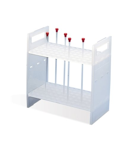 Bel-Art F18854-0003 NMR Sample Tube Rack; 3mm, 72 Places, 8⅜ x 4½ x 8¾ in., Polypropylene