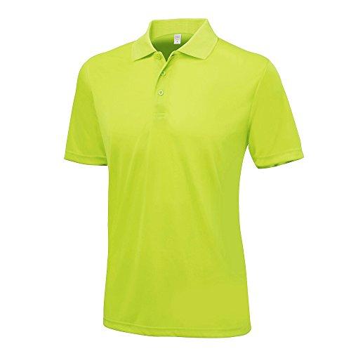 Verde Cool Lime Manica Just A Uomo Unita Corta Awdis Tinta Polo 5znqxqRU