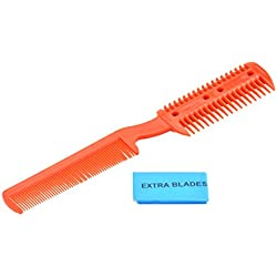 SE FC1003 Razor Comb for Hair Cutting with Extra Blades, Colors May Vary