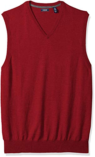 IZOD Men's Big and Tall Premium Essentials V-Neck Sweater Vest, New Biking red, 2X-Large -